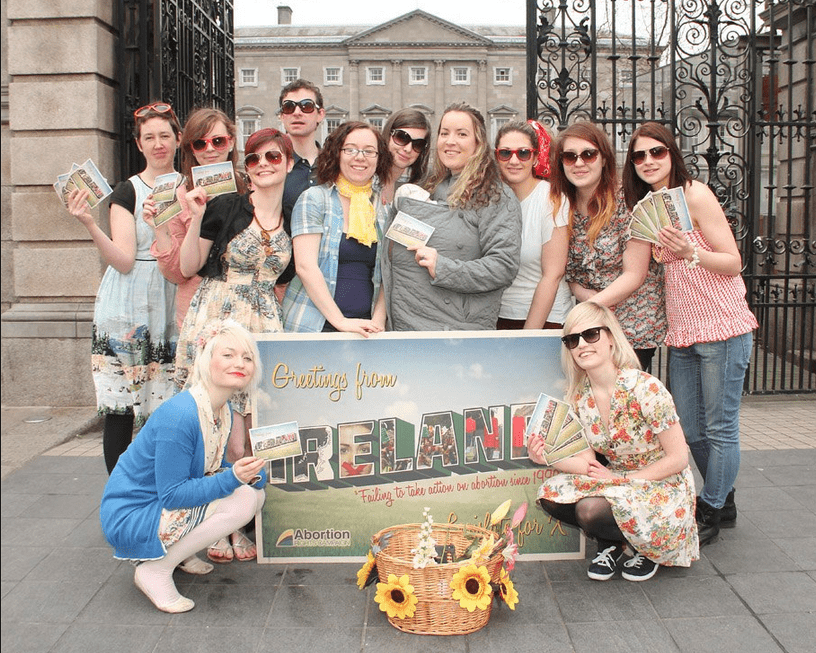 Abortion Rights Campaign activists at the Dáil