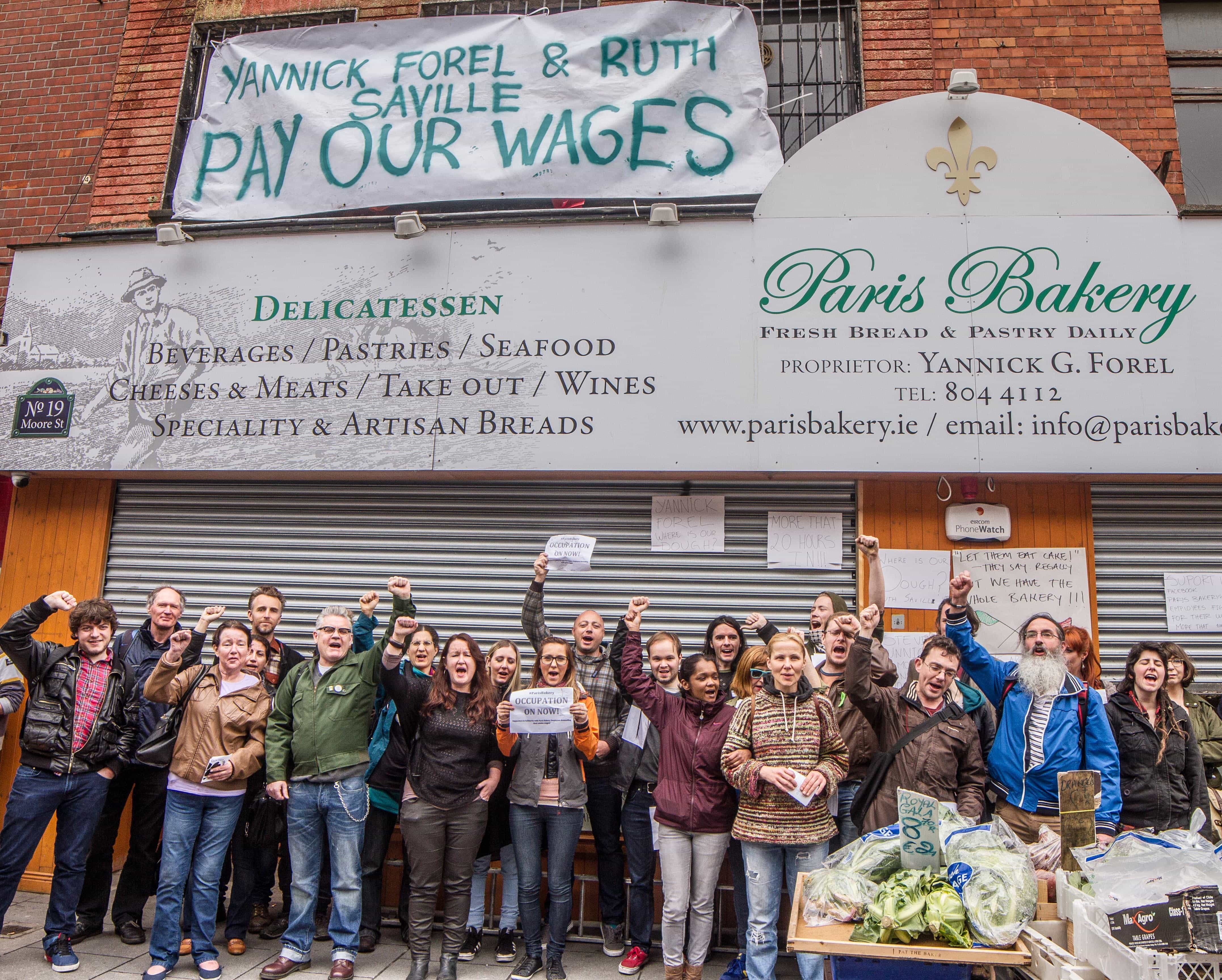 Paris Bakery employees and supporters