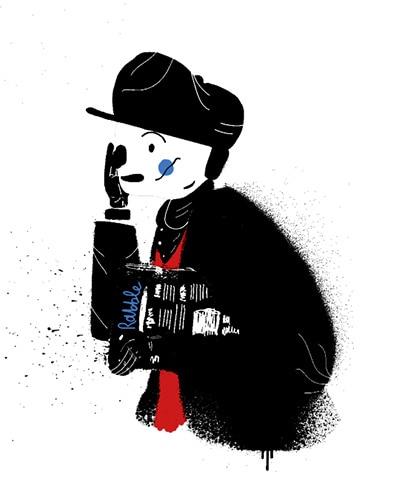 The newspaper boy by Luke Fallon.